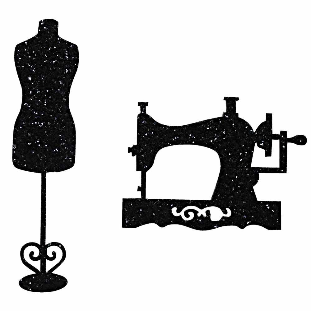 Iron-on Applique Decorative Black Sewing