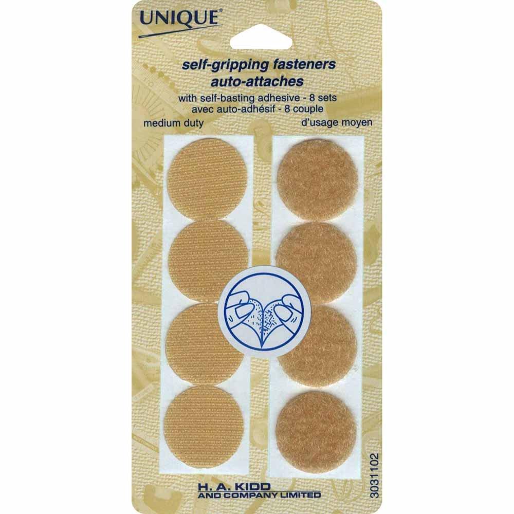 8 hook and loop fasteners 7/8 beige