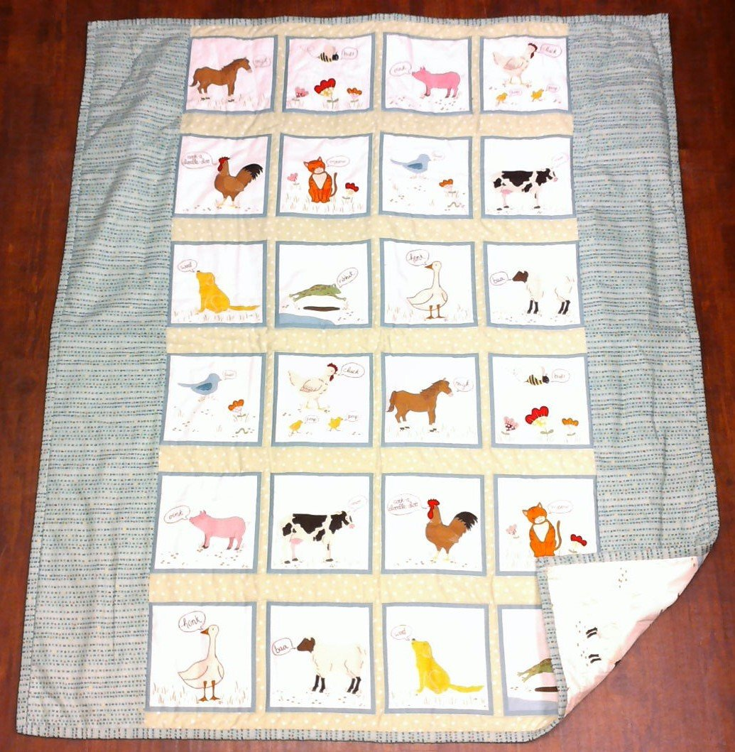 What do the Animals Say? Baby Quilt