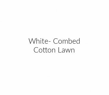 1377 10 Combed Cotton Lawn - White (21F)