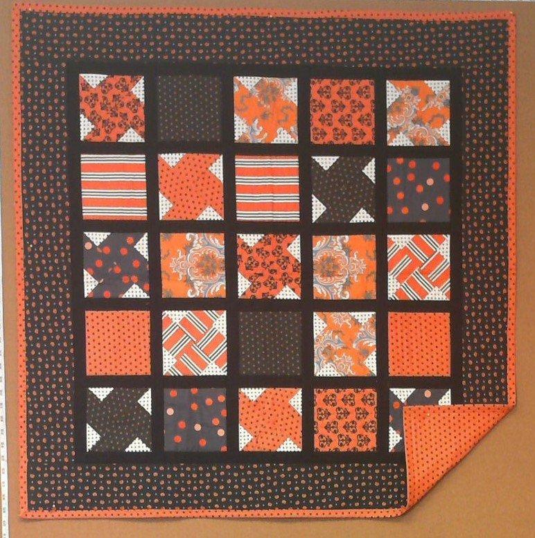 Halloween Pinwheel Lap Quilt