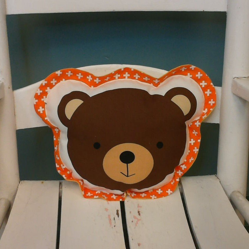 Brown Bear Shaped Pillow