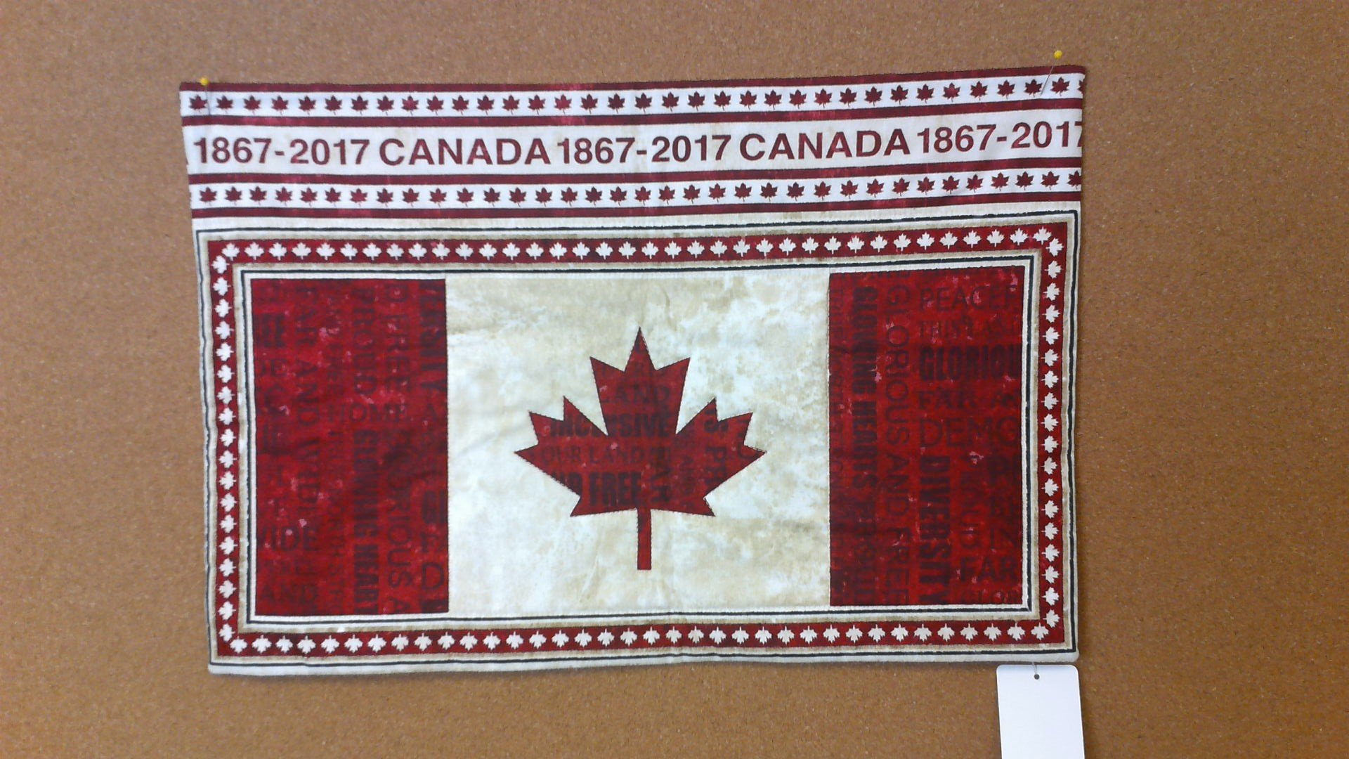 Canada Table Center or Wallhanging