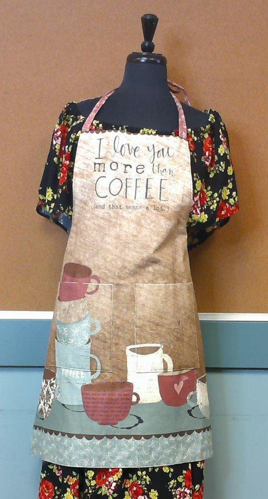 I Love You More Than Coffee Apron