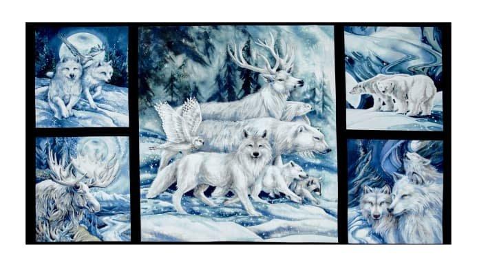 Winter Animals Panel