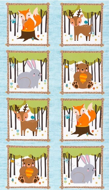 Woodland Hideaway Flannel Panel
