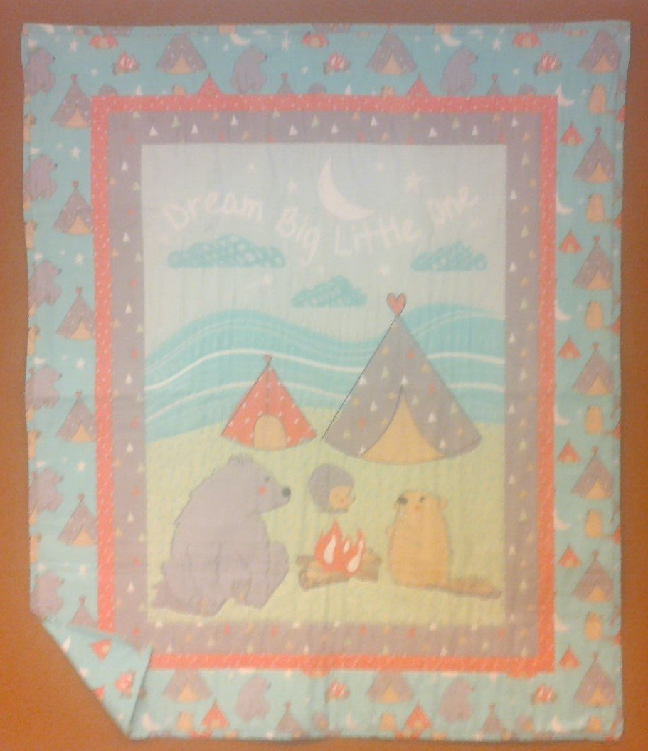 Woodland Animals Camping Baby Quilt