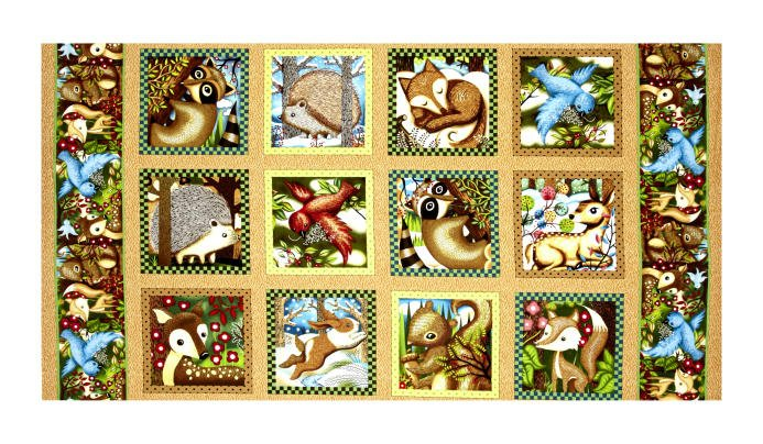 120-1370 Woodland Friends Panel