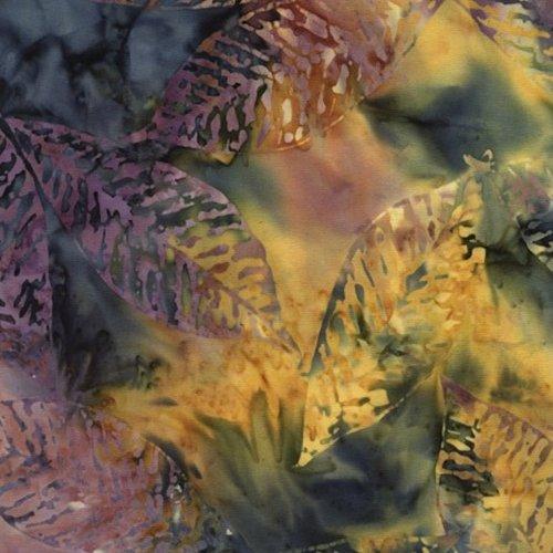 Timeless Treasures Tonga Gypsy Fossil Leaf Batik Tonga-B6233-Fiesta