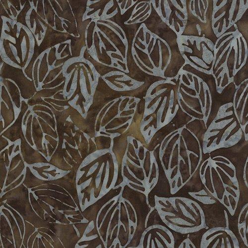 Tonga Sophisticate Falling Leaves Batik Tonga-B4571-Mud