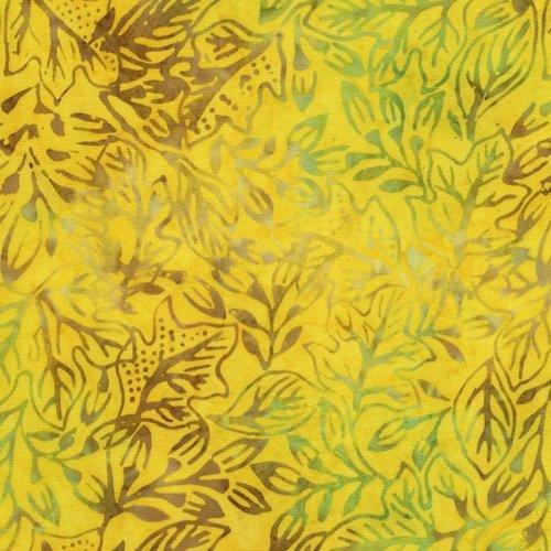 Tonga Peacock Leaf Study Batik Tonga B4616 Citron