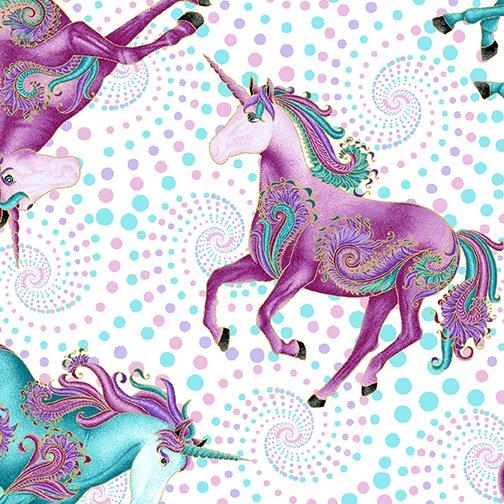 Benartex Believe in Unicorns All Over Unicorns Pastel 10391M-02