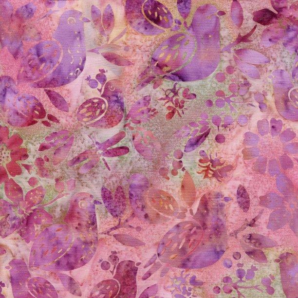 Island Batik All A Flutter Mixed Birds Primrose 111813335