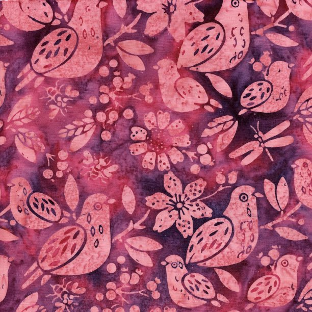 Island Batik All A Flutter Mixed Birds Mixed Berry 111813885
