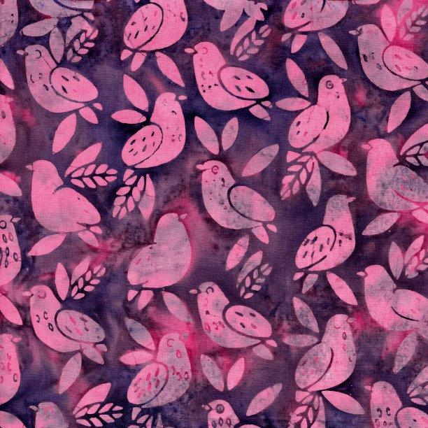 Island Batik All A Flutter Baby Birds Iris 111814455