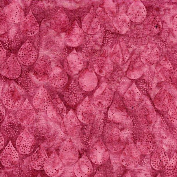 Island Batik All A Flutter Rain Dots Raspberry 111817330