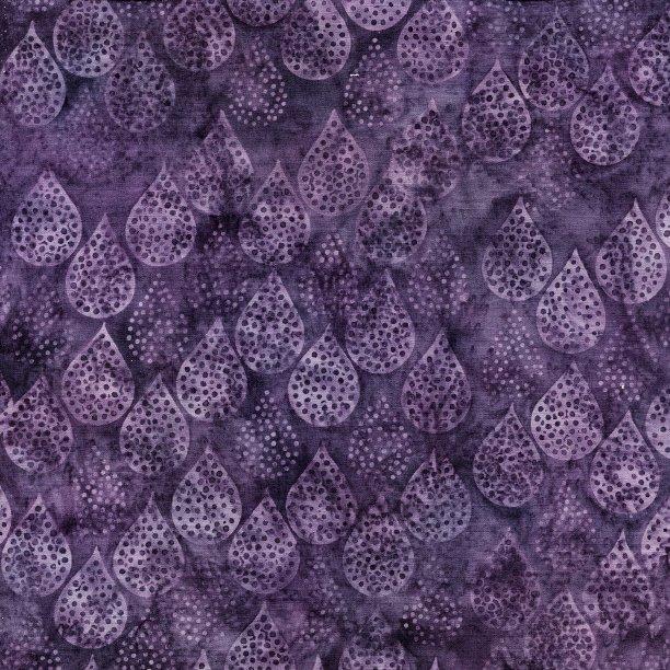 Island Batik All A Flutter Rain Dots Grape 111817450
