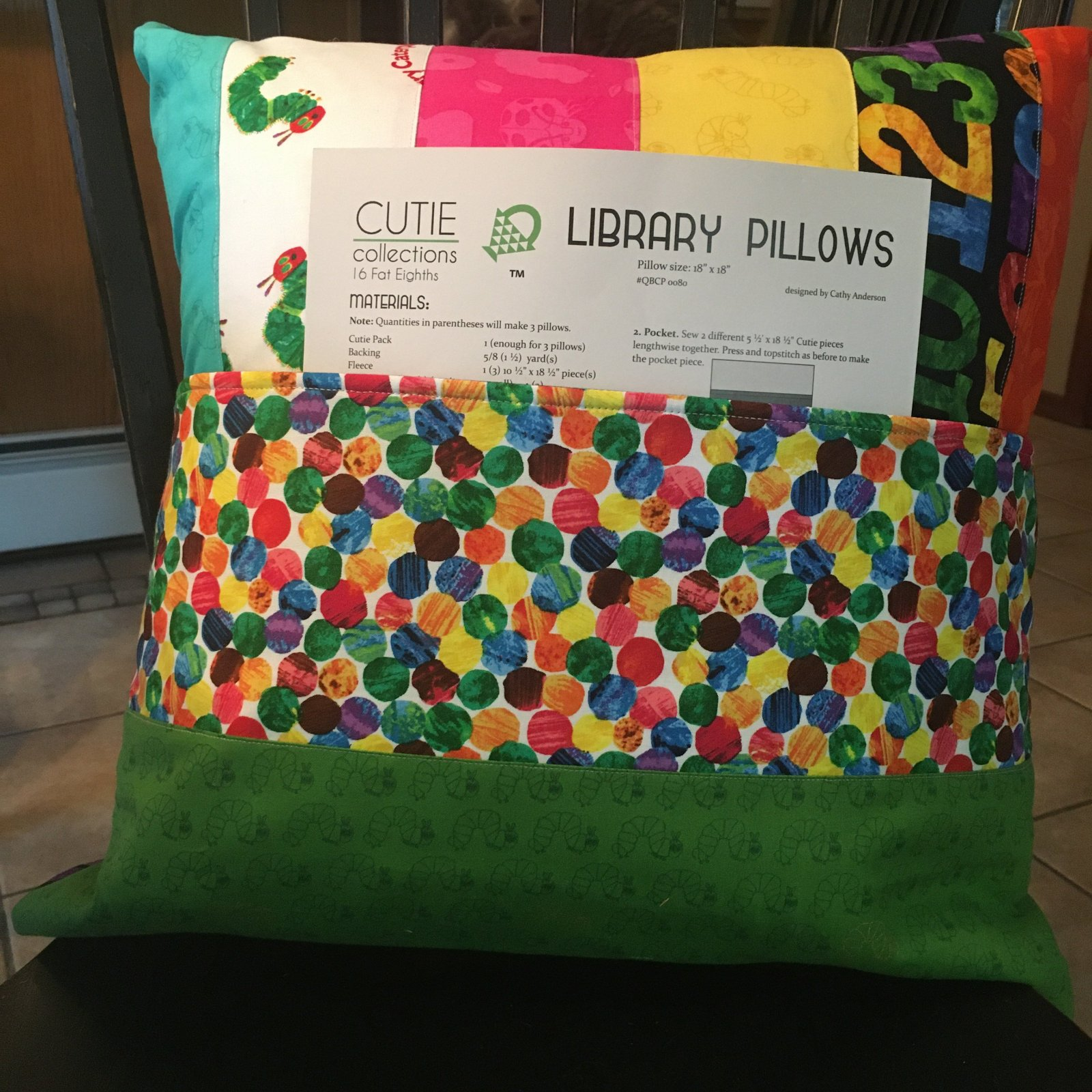 Quilt Basket Library Pillows Kit - The Very Hungry Caterpillar