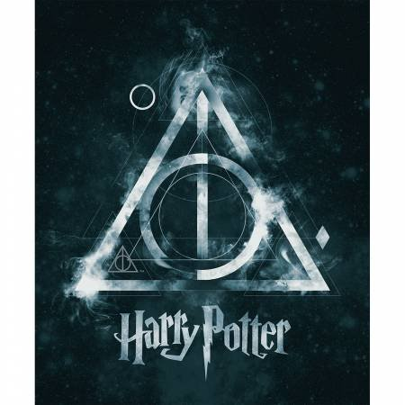 Harry Potter Teal Deathly Hollows Panel 23800140P-1