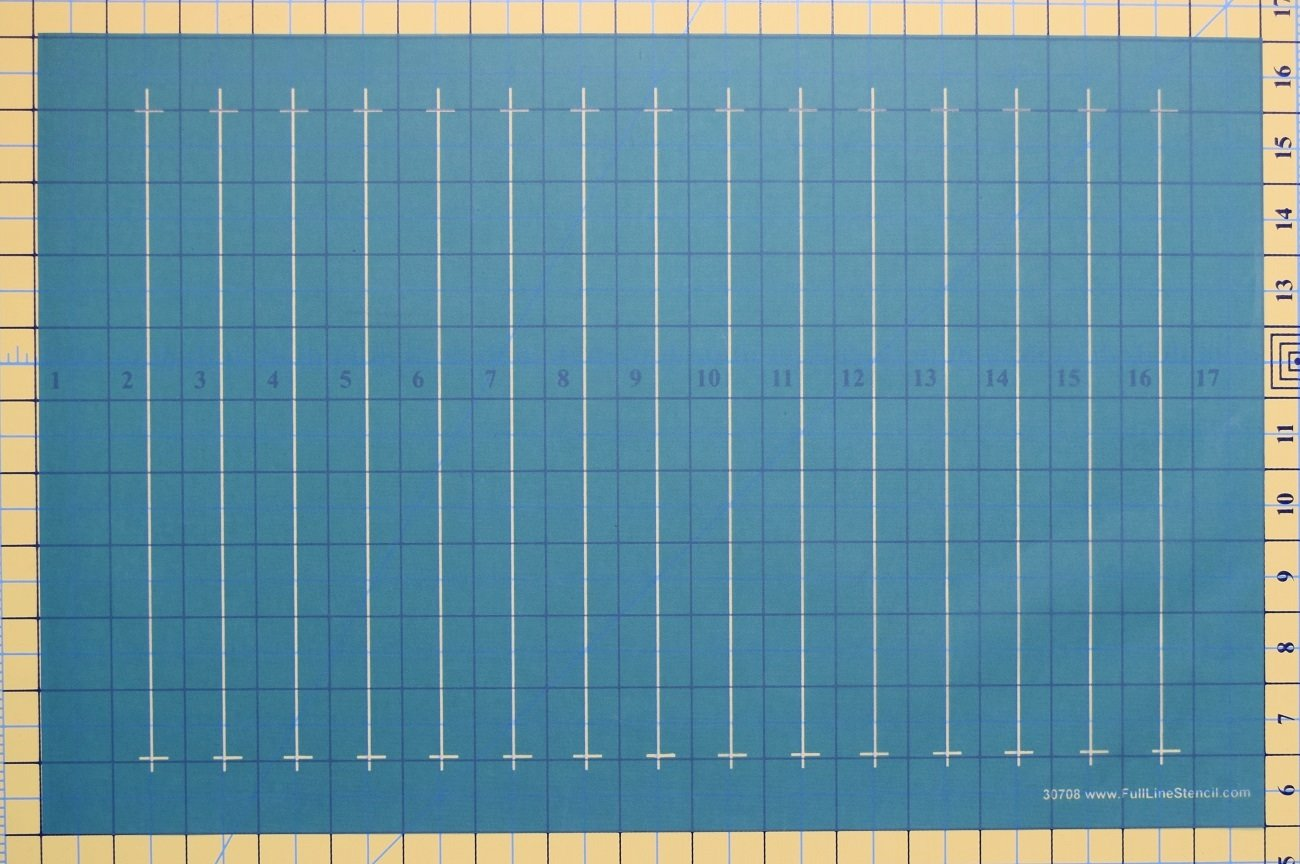 Full Line Stencil 1 Parallel Lines Debby Brown Quilts 30708