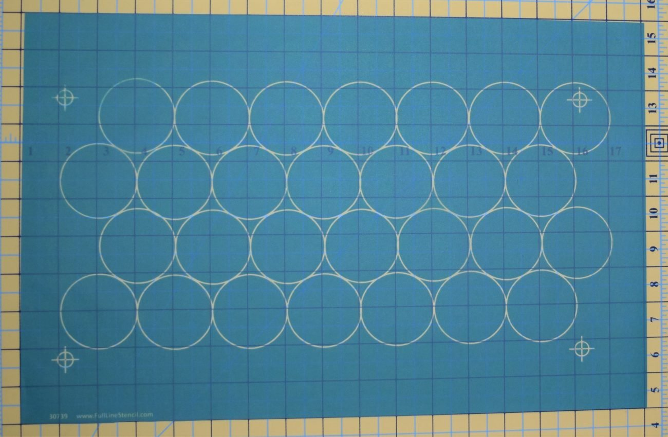 Full Line Stencil 2 OFFSET Circle Grid Debby Brown Quilts 30739