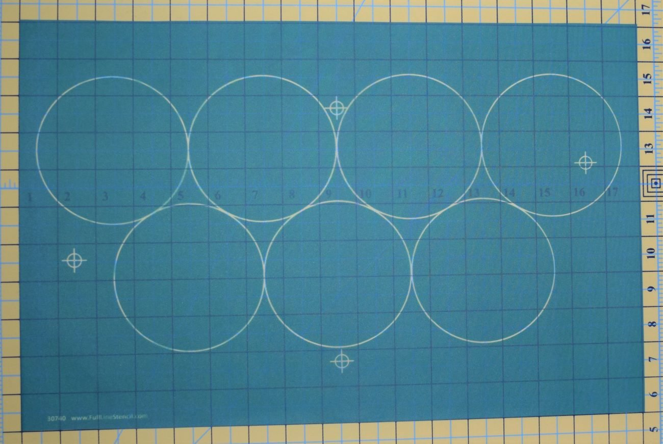 Full Line Stencil 4 OFFSET Circle Grid Debby Brown Quilts 30740