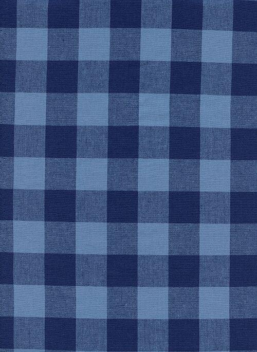 S.S. Bluebird Checkers 1inch Gingham Navy 5090 02