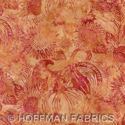 Hoffman Hand Painted Bali Cornucopia Sahara