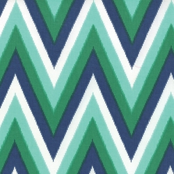 Color Me Happy Chevron Navy Emerald