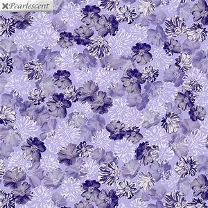 Benartex Violet Twilight Pearly Blooms Lilac 7920P-60