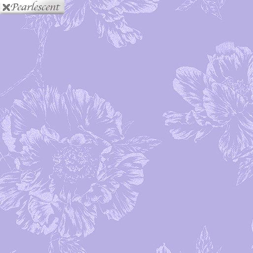 Benartex Violet Twilight Pearl Shadow Flowers Lilac 7922P-60