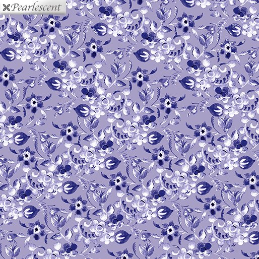 Benartex Violet Twilight Floral Arabesque  Lilac 7925P-60