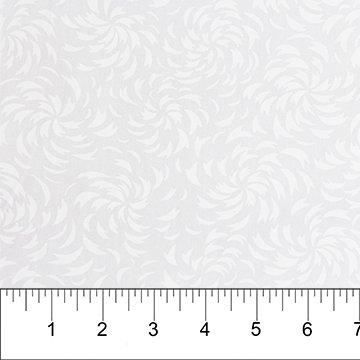 Northcott Banyan Batik White on White 81201-10