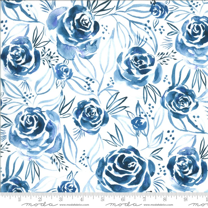 Moda Moody Bloom Digital Indigo 8443 13D