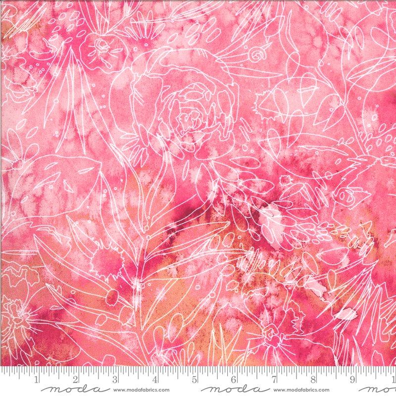 Moda Moody Bloom Digital Fuchsia 8447 13D