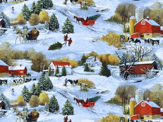 Blank Quilting Let it Snow Large Scenic 9123-11