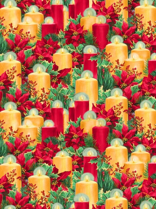 Blank Quilting Let it Snow Candles 9127-88