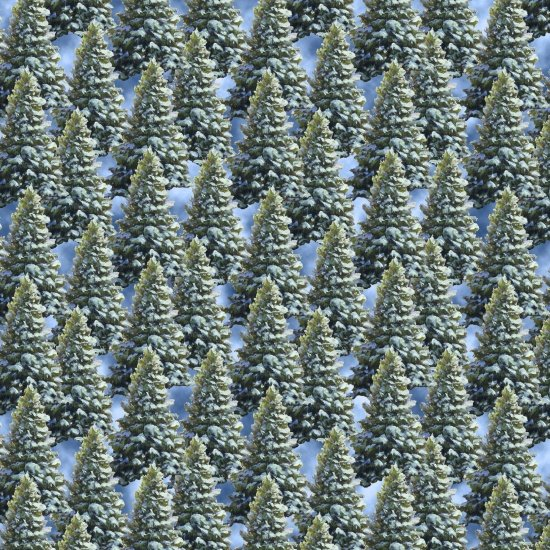 Blank Quilting Let it Snow Pine Trees 9131-66