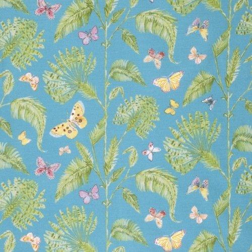 Free Spirit Butterfly Garden Butterfly Plm Turq PWDF227 TURQ