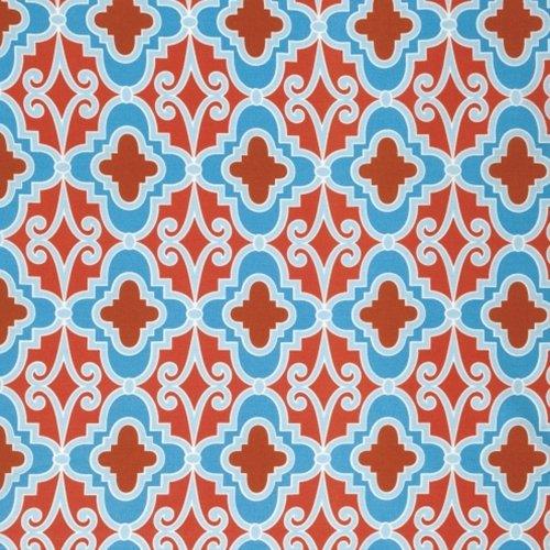 Free Spirit Butterfly Garden Lattice Red PWDF231 RED