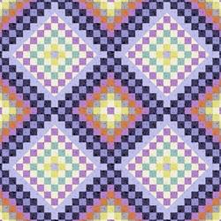 EBI Fabrics Retro Diamonds Purple Lilac QT1423-833