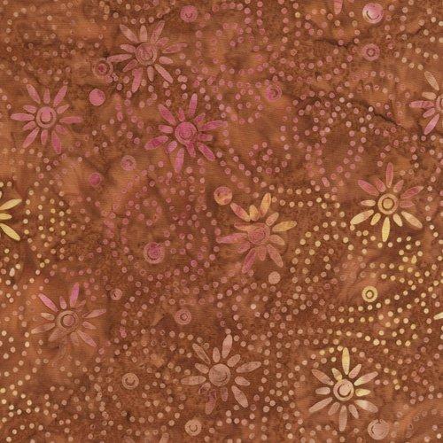 Timeless Treasures Tonga Autumn B4574 Copper