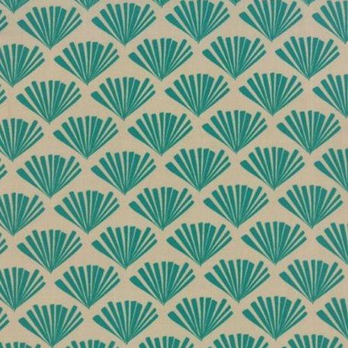Moda Valley Fringe Bisque Teal 37514 15
