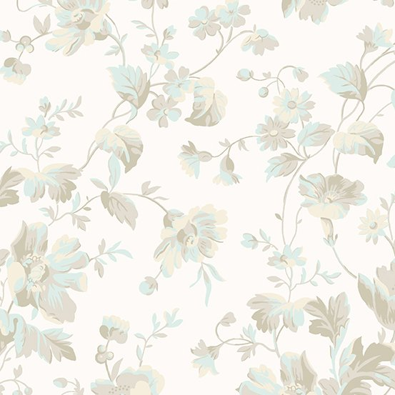 Andover Willow Tossed Floral Neutral A-9611-T