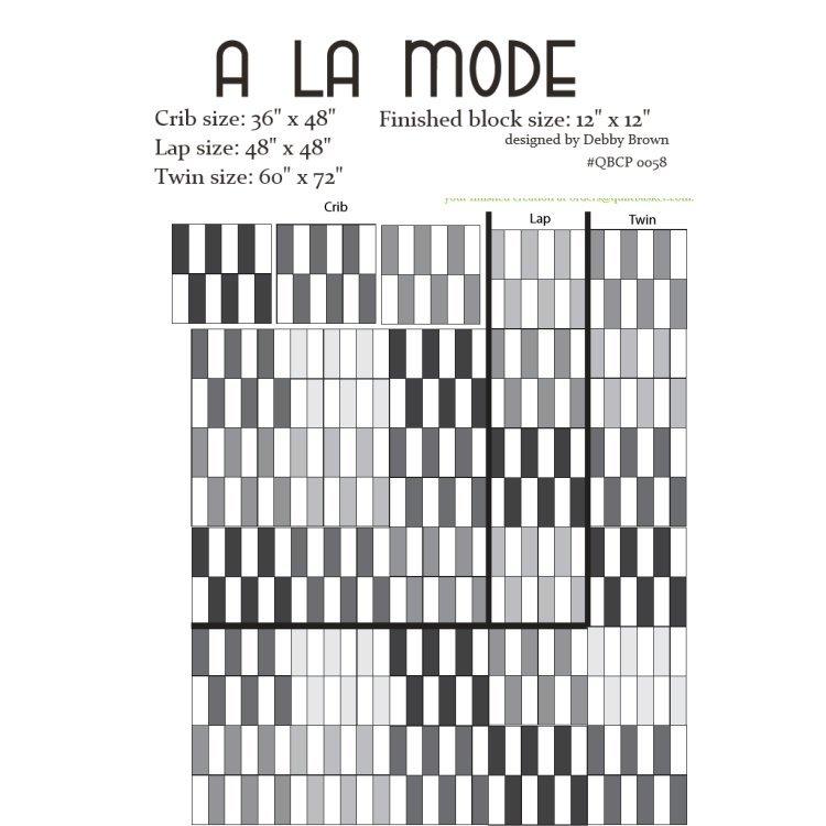 Cutie Pattern A La Mode QBCP-0058