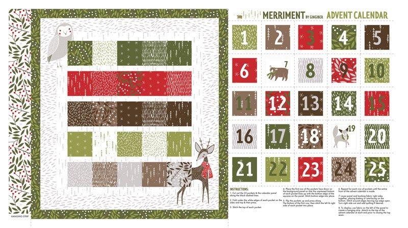 Moda Merriment Advent Calendar Panel 48272 11