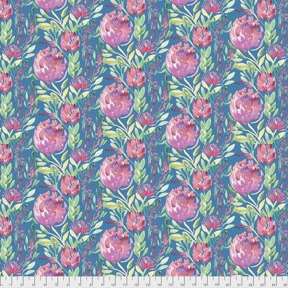 Free Spirit Artichoke Garden Thistle Flowers Teal PWCH004 TEALX