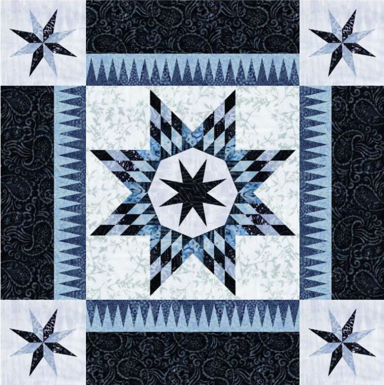 Quiltworx  Baby Bella Blue Moon Quilt Kit