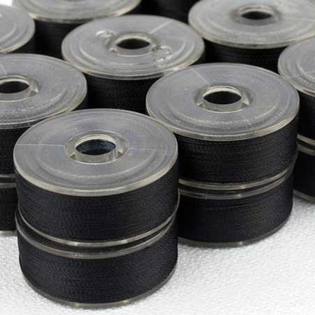 DecoBob Pre-Wounds Bobbins, Black, size M, 24x210 yd