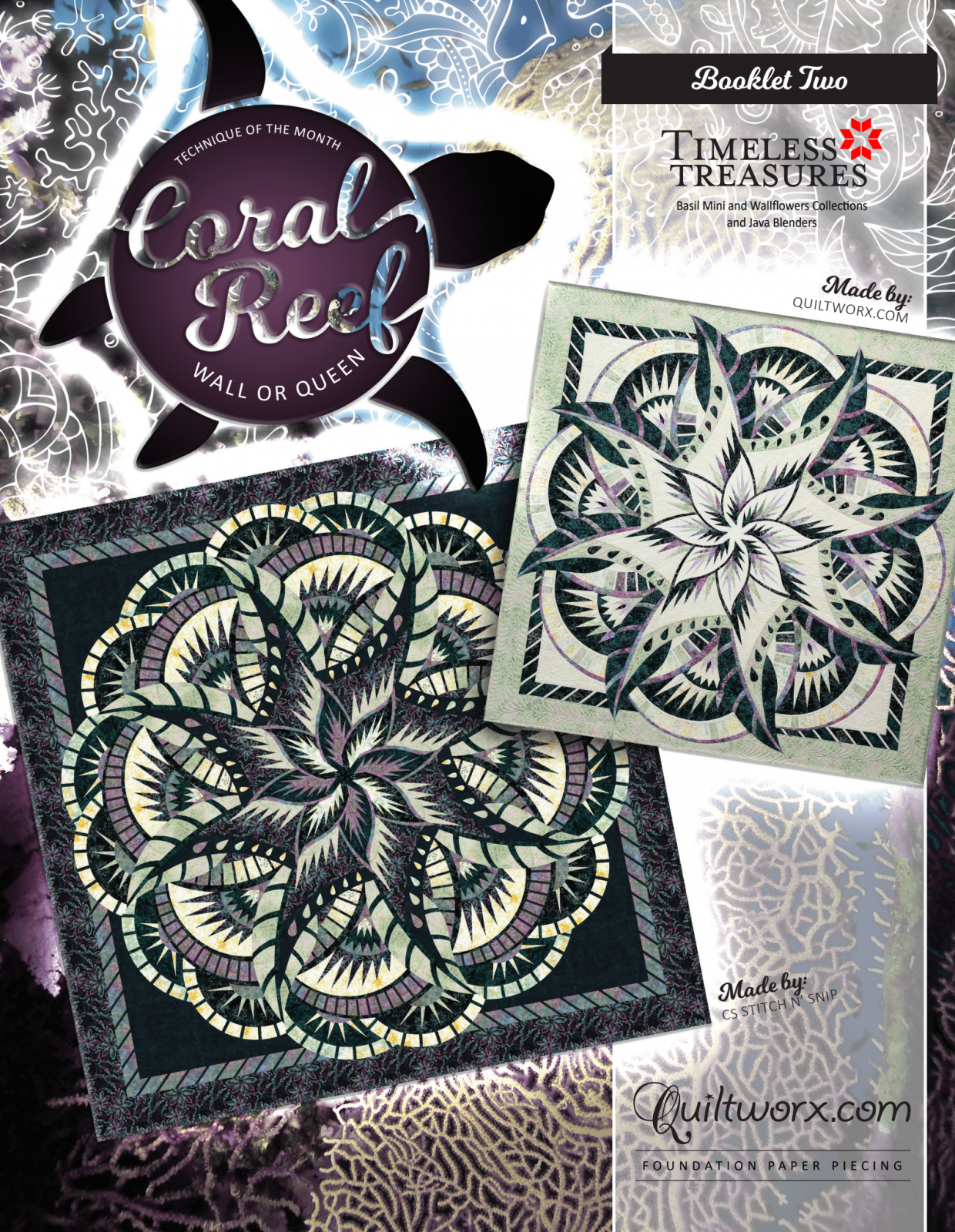 PREORDER Quiltworx 2021 Technique of the Month Coral Reef